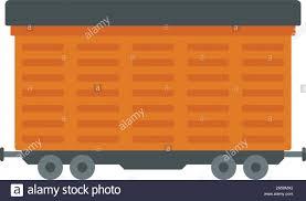Cargo Web Design Cargo Train Wagon Icon Flat Illustration Of Cargo Train