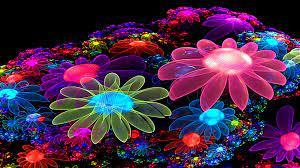 Neon Flowers Cool wallpaper