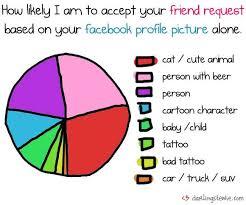 Friend Filtering Infographics Friend Request Pie Chart