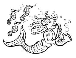 Mermaid Coloring Pages Bestofcoloringcom