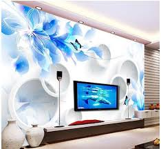 Small Picture Customize Simple 3d Flowers Wallpaper Wall Sticker Wallpapers