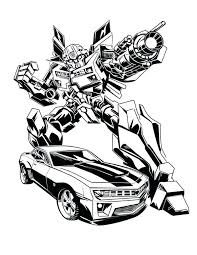 Bumblebee Transformer Coloring Pages Transf Coloring Pages