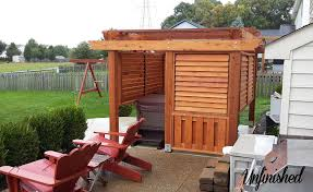 outdoor louvered spa enclosure unfinished