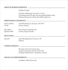 Word Resume Template 7 Sample High School Resume Templates Sample