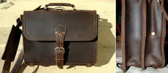 the saddleback thin briefcase