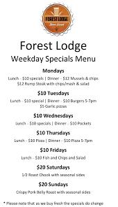 specials menu lunch menu