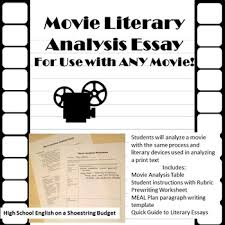 movie literary analysis essay for use any movie by msdickson movie literary analysis essay for use any movie