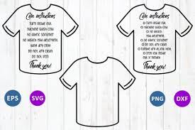 The svg stop's river life bundle design in svg, dxf, jpg, png, and eps format cut file clip art for silhouette, cricut, brother scan n cut, and various other cutting machines. Care Instruction T Shirt Graphic By Millerzoa Creative Fabrica