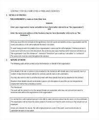 Self Employment Contract Form Sample New York – Azserver.info