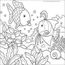 Small Picture Swimming Fish color page