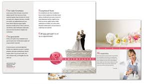 Tri Fold Brochure Template For Catering Wedding Bakery Order Custom