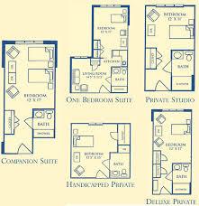 Apartment Floor Plans  Parkview Senior LivingAssisted Living Floor Plan