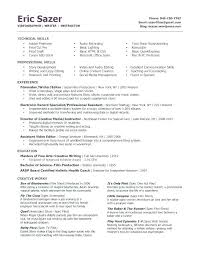 Film Production Cover Letter Resume Of A Production Assistant