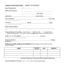 Basic Rental Agreement Template Tenancy Agreement Template Free