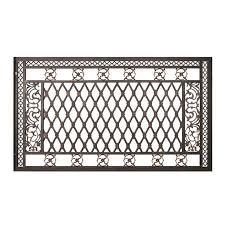 Afd Home 10808097 Bridgeton Moore Small Fence Panel Black