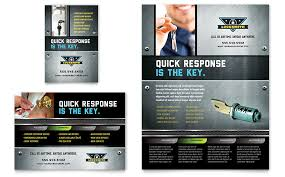 Publisher Flyers Locksmith Flyer Ad Template Word Publisher