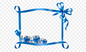 Blue Ribbon Template Christmas Name Tag Gift Template Holiday Blue Ribbon Gift