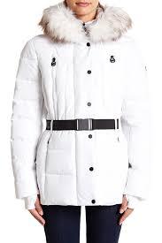 michael michael kors logo belted faux fur trim puffer jacket nordstrom rack