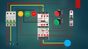 three phase dol starter control overload indicator power wiring dol starter diagram