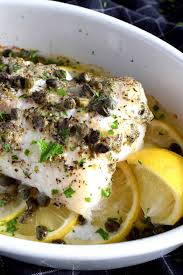 Baked Cod Fish with Lemon and Capers ...
