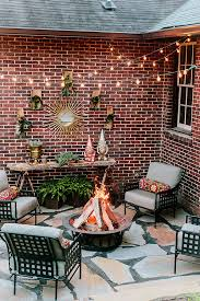 modern patio accents view fresh in backyard ideas design with copper garden accents and succulents