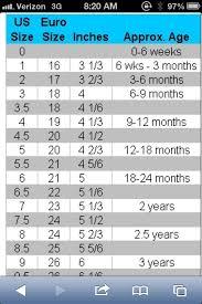 Baby Shoe Chart Baby Shoe Size Chart Crochet Baby Shoes Baby Shoe Sizes
