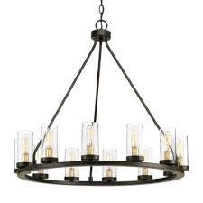 seeded glass chandeliers lighting