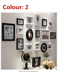 vintage frame photo wood photos wall photo wall photo frame 9pcs set box small combination picture frame