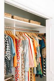 so it s two l shaped closets one larger and one smaller previously the bigger side had one big bar but it was lower with more shelving up top