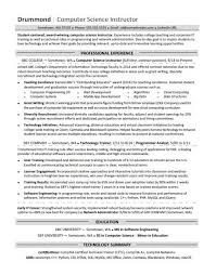 resume for computer science computer science resume sample monster com