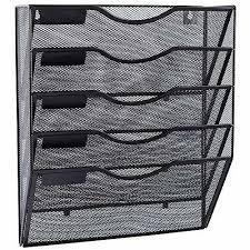 5 pockets mesh wall file holder