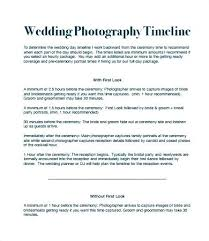 Wedding Day Itinerary Template Metabots Co