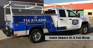 garage door wrapsCost Effective Partial Truck Wrap