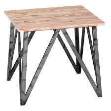 armen living regis pine top end table lcrelapinewh