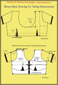 Blouse Measurement Chart Tailoring Class How To Take Blouse Measurement From Customers