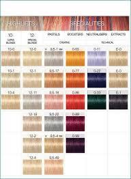 11 Symbolic Igora Personality Color Chart