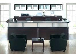 office furniture reception desks large receptionist desk. Receptionist Desk Two Person Reception Desks 2 Used . Office Furniture Large U