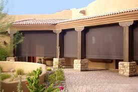 fabric patio shades. Brilliant Shades Patio Sun U0026 Wind Screen With Fabric Shades D
