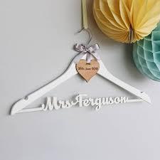 personalised white wedding dress hanger by no ordinary gift Engraved Wedding Hangers Uk personalised white wedding dress hanger personalized wedding hangers uk