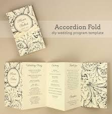 accordian fold diy wedding program Wedding Invitations Programs Free Download diy harvest scroll wedding program download & print wedding invitation software free download