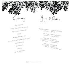 Wedding Ceremony Templates Free Engagement Party Program Template Wedding Reception Agenda
