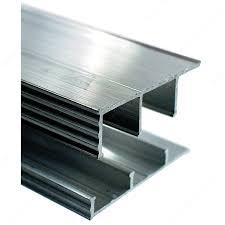 glass cabinet sliding door track