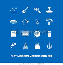 Boat Charts Online Modern Simple Vector Icon Set On Royalty Free Stock Image