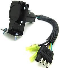 rv wiring harness wiring diagrams best amazon com 4 flat to 7 way rv trailer light plug wire harness 7 pin rv wiring harness rv wiring harness