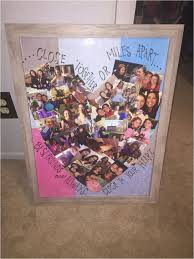 diy picture frame for best friend heart shaped best friend collage cass s arts and crafts