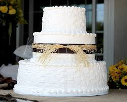 simple round wedding cake. Interesting Cake Weddingcake3tierrusticbrownbasketround With Simple Round Wedding Cake P