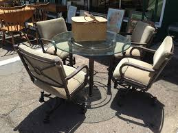 fortable Patio Furniture 4 swivel chairs and super nice table