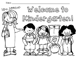 first day of kindergarten coloring page welcom 10981 unknown first