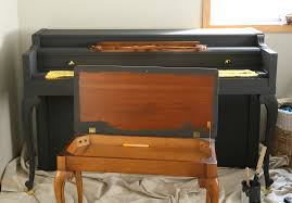 painting the piano bench with annie sloan chalk paint