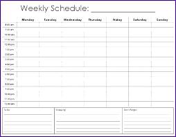 Printable Hourly Weekly Schedule Printable Weekly Calendar With Hours Hourly Calendar Printable 2017